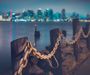 city, chains, and light image