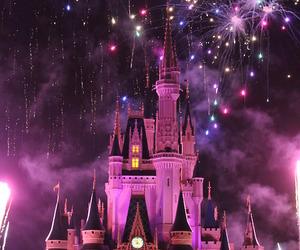 disney, disneyland, and fireworks image