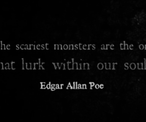 black and white, books, and edgar allan poe image