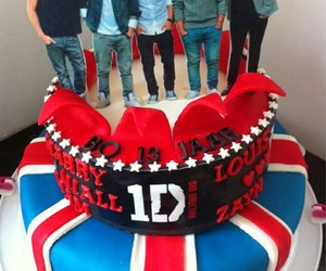 cake, 1d, and Harry Styles image
