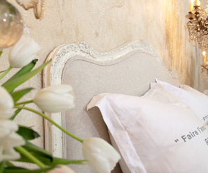 bedding and shabby chic image