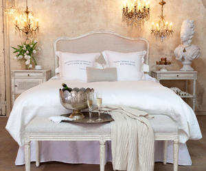 bedding, linens, and shabby chic image