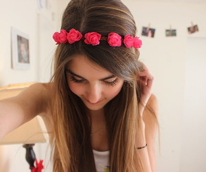 fashion, flower, and flower crown image