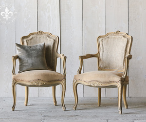 french country, shabby chic, and arm chairs image