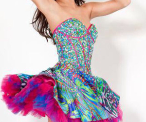 colorful, prom dress, and jovani image