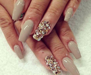 beauty, nails, and diamond image