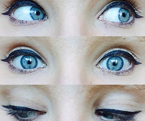 beautiful, blue eyes, and Collage image