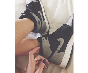 girl, shoes, and nike image