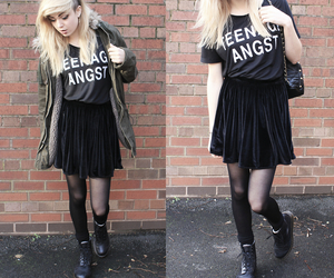 black, girl, and clothes image