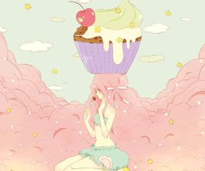 anime, cupcake, and kawaii image