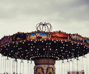carousel, fun, and merry go round image