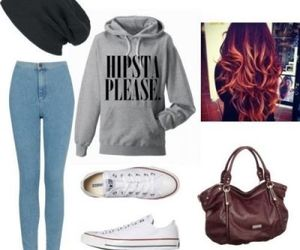 cute outfit, hipster outfit, and ootd image