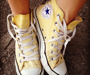 shoes, converse, and yellow image