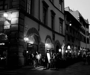 black and white, pizzeria, and italy image