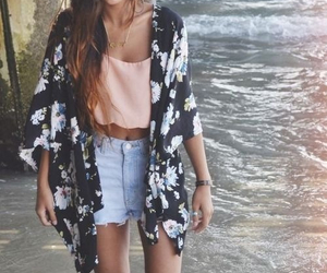 beach, clothes, and water image