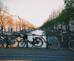 amsterdam, holland, and bicycle image