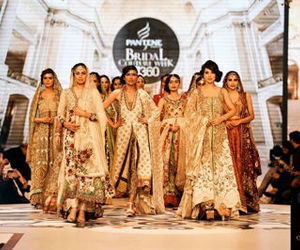 bridal fashion, wedding dresses, and pakistani bridal week image