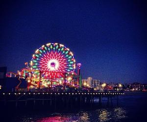 la, view, and santa monica pier image
