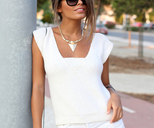 fashion, necklace, and jeans image