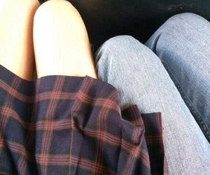 boy, girl, and legs image