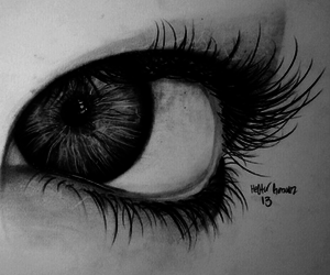 draw, eye, and drawing image