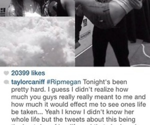 taylor caniff, magcon boys :), and r.i.p megan image