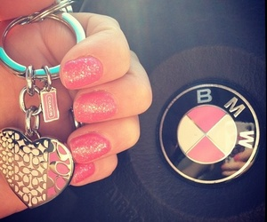 bmw, heart, and nails image