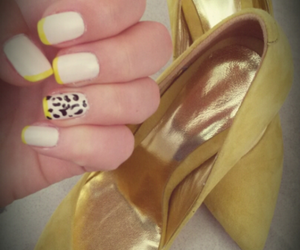 nails, shoes, and spring image