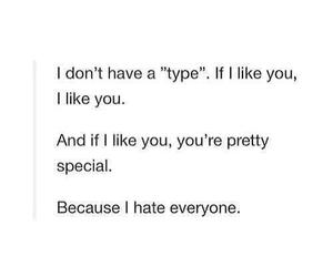 special, hate, and quote image