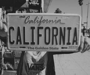 california, black and white, and cool image