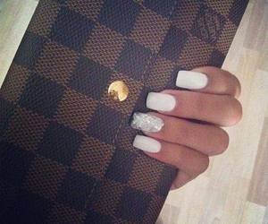 nails, Louis Vuitton, and white image