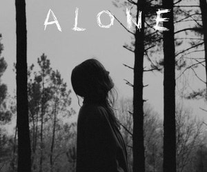 alone and think image