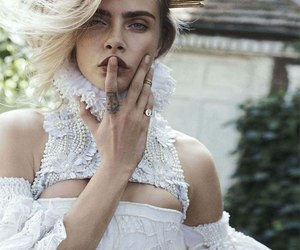 fashion, girl, and cara delevigne image
