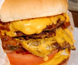 food and cheeseburger image