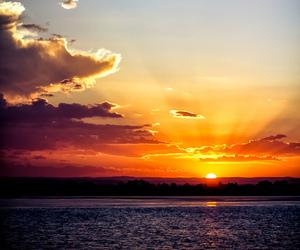 sunset, australia, and beach image