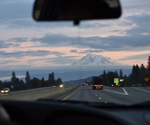 car, mountains, and road image
