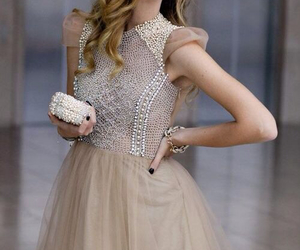dress, fashion, and pearls image