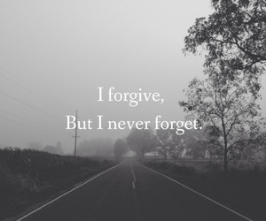 forgive, black and white, and quote image
