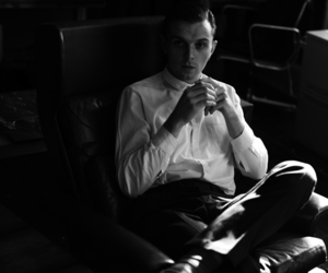 theo hutchcraft, black and white, and hurts image