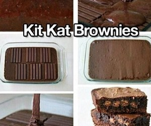kit kat, brownies, and chocolate image
