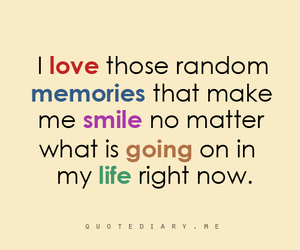 smile, quote, and memories image