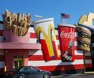 city, cool, and McDonalds image