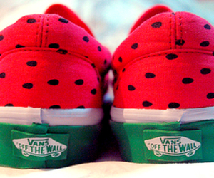 vans, watermelon, and cute image