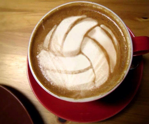 cool, volleyball, and coffee image