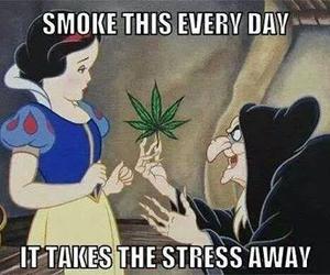 weed, snow white, and smoke image
