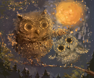 moon, owls, and sophie image
