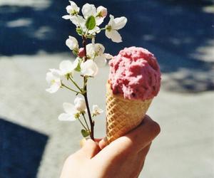 flowers, ice cream, and summer image