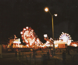 light, amusement park, and night image
