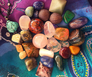 stone, colorful, and gems image