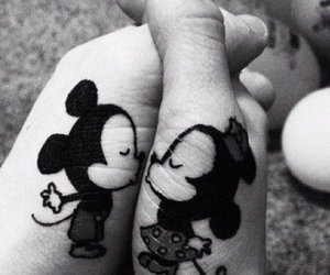 aw, mickey and minnie, and cute image